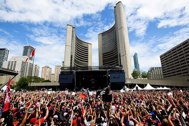 Raptors fans in Toronto