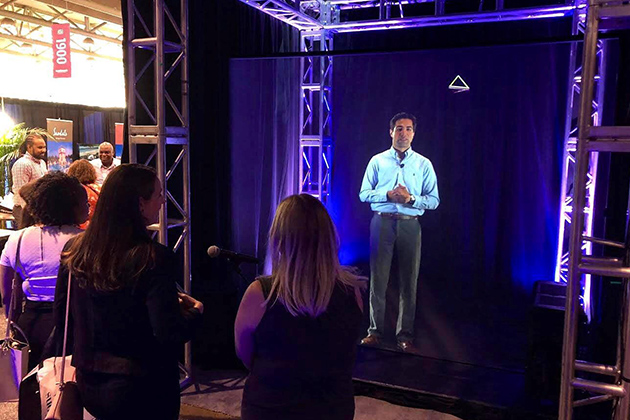 ARHT Media Hologram at IncentiveWorks 2018